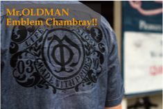 Mr.OLDMAN��Emblem Chambray shirts