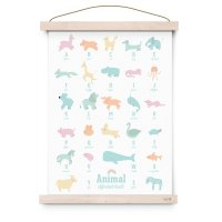 <img class='new_mark_img1' src='https://img.shop-pro.jp/img/new/icons1.gif' style='border:none;display:inline;margin:0px;padding:0px;width:auto;' />Poster ANIMAL ALPHABET PASTEL