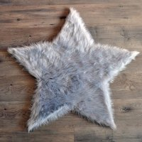 <img class='new_mark_img1' src='//img.shop-pro.jp/img/new/icons16.gif' style='border:none;display:inline;margin:0px;padding:0px;width:auto;' />限定sale!FUR RUG STAR LT GRAY