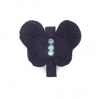 <img class='new_mark_img1' src='//img.shop-pro.jp/img/new/icons1.gif' style='border:none;display:inline;margin:0px;padding:0px;width:auto;' />Kids Dot hair Clip Butterfly Navy