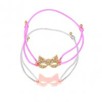 <img class='new_mark_img1' src='//img.shop-pro.jp/img/new/icons1.gif' style='border:none;display:inline;margin:0px;padding:0px;width:auto;' />Kids Bracelets – Gold & Pink neon masks