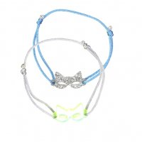 <img class='new_mark_img1' src='//img.shop-pro.jp/img/new/icons1.gif' style='border:none;display:inline;margin:0px;padding:0px;width:auto;' />Kids Bracelets – Silver & yellow neon masks