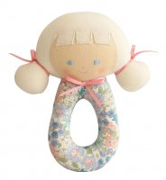 Audrey Blue dress rattle