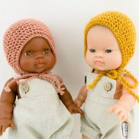 <img class='new_mark_img1' src='//img.shop-pro.jp/img/new/icons1.gif' style='border:none;display:inline;margin:0px;padding:0px;width:auto;' />Paola Reina doll knit bonnet