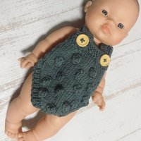 <img class='new_mark_img1' src='https://img.shop-pro.jp/img/new/icons1.gif' style='border:none;display:inline;margin:0px;padding:0px;width:auto;' />Paola Reina doll &knit rompers set(男の子)B