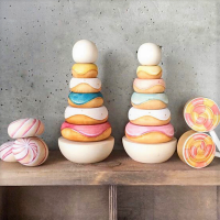 <img class='new_mark_img1' src='https://img.shop-pro.jp/img/new/icons1.gif' style='border:none;display:inline;margin:0px;padding:0px;width:auto;' />wooden toy stacking donut A