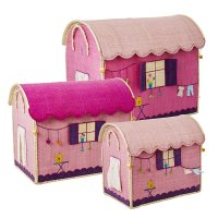 <img class='new_mark_img1' src='https://img.shop-pro.jp/img/new/icons1.gif' style='border:none;display:inline;margin:0px;padding:0px;width:auto;' />Rice Pink Caravan Raffia Toy Storage-L サイズ