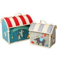 <img class='new_mark_img1' src='https://img.shop-pro.jp/img/new/icons1.gif' style='border:none;display:inline;margin:0px;padding:0px;width:auto;' />Rice  Circus Raffia Toy Storage-2set