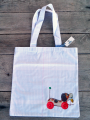 <img class='new_mark_img1' src='https://img.shop-pro.jp/img/new/icons24.gif' style='border:none;display:inline;margin:0px;padding:0px;width:auto;' />Tote Bag Carreaux d'écolier Jouet Vintage  Dog