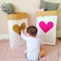 Paper strage bag  Heart 2color