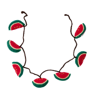 30%OFF Hand Crochet Garland with Melons
