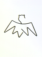 Little pop studio  BLACK BAT KIDS COAT HANGER