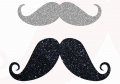 <img class='new_mark_img1' src='//img.shop-pro.jp/img/new/icons11.gif' style='border:none;display:inline;margin:0px;padding:0px;width:auto;' />Iron-on application Glitter  moustache