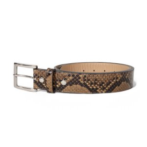 WACKO MARIA(ワコマリア) | PYTHON LEATHER BELT(BRW)