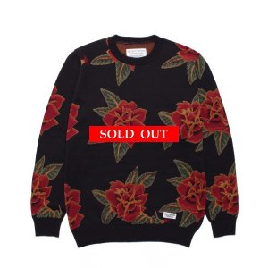 WACKO MARIA (ワコマリア) | FLOWER JACQUARD SWEATER 21SSE