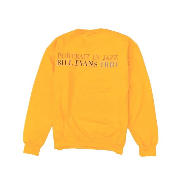 WACKO MARIA | BILL EVANS / CREW NECK SWEAT SHIRT TYPE-1(YELLOW) 2021秋冬画像
