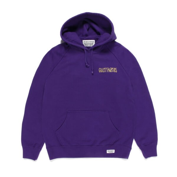 WACKO MARIA | WASHED HEAVY WEIGHT PULL OVER HOODED SWEAT SHIRT TYPE-3(PURPLE) 2021秋冬画像