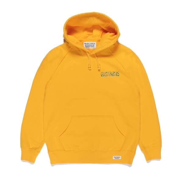 WACKO MARIA | WASHED HEAVY WEIGHT PULL OVER HOODED SWEAT SHIRT TYPE-3(YELLOW) 2021秋冬画像