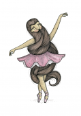 <img class='new_mark_img1' src='https://img.shop-pro.jp/img/new/icons20.gif' style='border:none;display:inline;margin:0px;padding:0px;width:auto;' />髭のバレリーナ ミニポスター / A4サイズ   by バカディッシュ (BahKadisch / Karin Ohlsson)