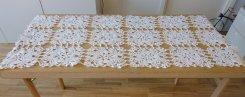 北欧ヴィンテージ 綺麗なカギ編みのテーブルクロス(大型ドイリー)/ ホワイト / スウェーデン