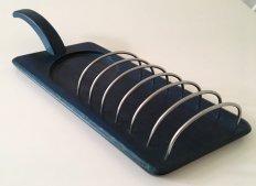 北欧ヴィンテージ 藍色のトースターホルダー