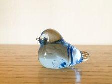 ガラスの小さな小鳥のオブジェ / スカイブルー / スウェーデン