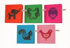 アニマル グリーティングカード 5枚set  by Hipp!