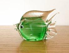 ガラス製 エメラルドグリーンの熱帯魚 / エメラルドグリーン&ホワイト  / スウェーデン