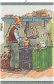 『パンケーキ』 キッチンタオル(タペストリー)Mサイズ ペットソン&フィンドゥスシリーズ by. Ekelund