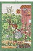 『じょうろ』キッチンタオル(タペストリー)Mサイズ ペットソン&フィンドゥス by. Ekelund