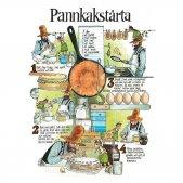 A4サイズ ポストカード / ミニポスター 『パンケーキトルタのレシピ ペットソン&フィンドゥス(フィンダス)』 by. Hjelm Förlag