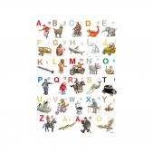 A4サイズ ポストカード / ミニポスター 『ABC アルファベット』 by. Hjelm Förlag