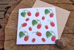 ラズベリー ・グリーティングカード  by anneko design