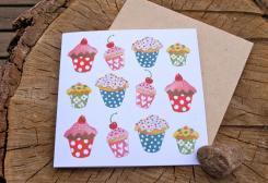 カップケーキ ・グリーティングカード  by anneko design