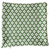 ウールクッションカバー メニーフラワーズ  (グリーン)  by Birgitta Lagerqvist