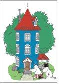 ムーミンポストカード ムーミンハウス by Lange Kort