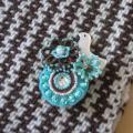 BIRD CAFE x 三友製作所「鳥のブローチ x 手織りのマフラー」(ウール/ブラウン)