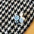 BIRD CAFE x 三友製作所「鳥のブローチ x 手織りのマフラー」(ウール/ブラック)