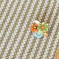 BIRD CAFE x 三友製作所「鳥のブローチ x 手織りのマフラー ミドルサイズ」(ウール/グリーン)