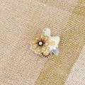 BIRD CAFE x 三友製作所「鳥のブローチ x 手織りのマフラー」(シルク/草木染め)3