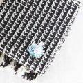 BIRD CAFE x 三友製作所「鳥のブローチ x 手織りのマフラー」(ウール/ブラウン)2