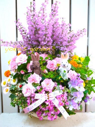 花プレゼント*ハーブ&お花のオーダーメイド寄せ植え 8,800円(送料無料)