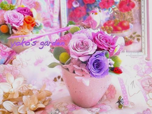 母の日[お試し価格]花プレゼント*おしゃれプリザーブドフラワーギフト贈り物(送料無料)-ラブリーピンク-