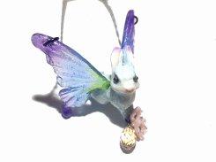 森の妖精 ネックレス (ブルー系) 【Wadou-koubou/和道工房】  アニマル 妖精 動物 かわいい どうぶつ バタフライ 蝶 花 フラワー ウサギ うさぎ ラビット メルヘン
