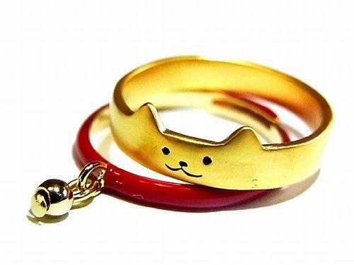 usual tomcat リング (カラー:レッド) (ネコ:11号 首輪:フリーサイズ)【Luccica/ルチカ】【ゆうメール送料無料】ネコ 猫 ねこ トムキャット 動物 カワイイ アクセサリー
