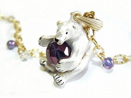 南極百景 ネックレス 【 Palnart Poc パルナートポック Brough Superior / ブラフシューペリア 】 かわいい 個性的 シロクマ 白くま 白熊 おしゃ…