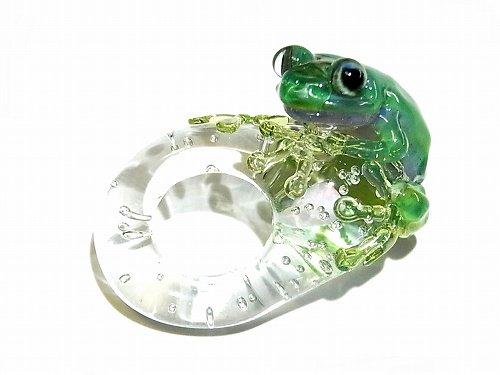 Eggs Frog 弐 【kengtaro/ケンタロー】  カエル ボロシリケイトガラス 職人 作家 蛙 かえる フロッグ 一点 カラフル 芸術 個性的 かわいい おし…