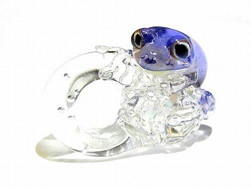 Eggs Frog 参 【kengtaro/ケンタロー】  カエル ボロシリケイトガラス 職人 作家 蛙 かえる フロッグ 一点 カラフル 芸術 個性的 かわいい おし…