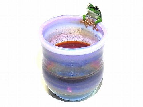 Frog Glass 雨蛙 【kengtaro/ケンタロー】 カエル ボロシリケイトガラス 職人 作家 蛙 かえる フロッグ 一点 カラフル 芸術 個性的 コップ グ…
