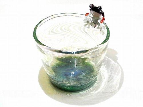 Frog Glass 【kengtaro/ケンタロー】 カエル ボロシリケイトガラス 職人 作家 蛙 かえる フロッグ 一点 カラフル 芸術 個性的 コップ グ…